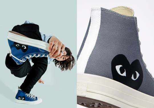 Comme des Garçons PLAY x Converse Chuck 70 To Release In Blue Quartz And Steel Grey