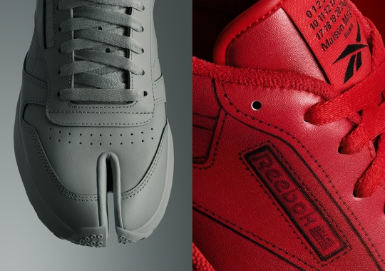 Maison Margiela And Reebok Update The Classic Leather Tabi And Club C With New Tonal Colorways