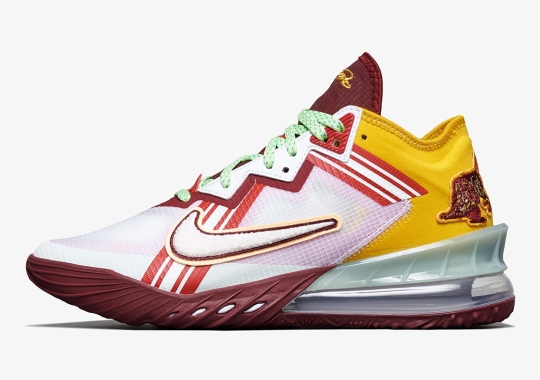 """Nike Taps Mimi Plange For A Varsity-Themed LeBron 18 Low """"Higher Learning"""""""