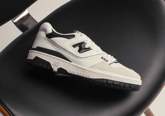 The New Balance 550 In Black Arrives On May 7th