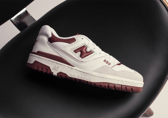 The New Balance 550 Arrives In Burgundy On May 7th