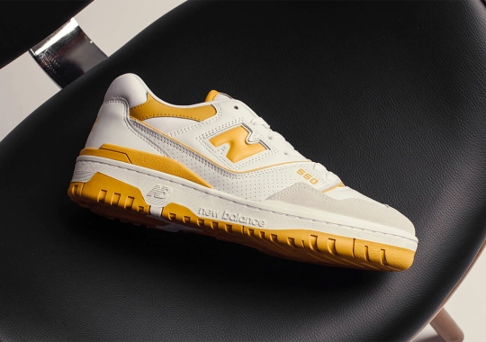 The New Balance 550 Is Releasing With Yellow Hits On May 7th