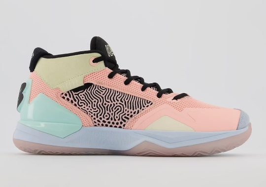"""Kawhi Leonard's New Balance Signature Shoe Appears In """"Cloud Pink"""" For The Playoffs"""