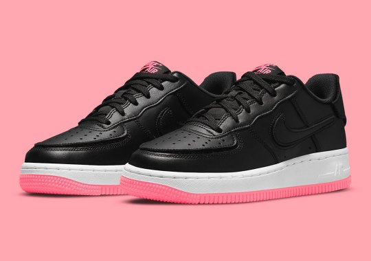 The Nike Air Force 1/1 Is Available Now In Black And Hyper Pink