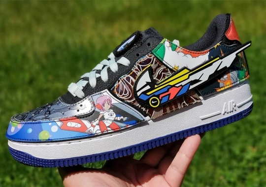 """The Nike Air Force 1/1 """"Nike And The Mighty Swooshers"""" Is A Nod To Sci-Fi Anime"""