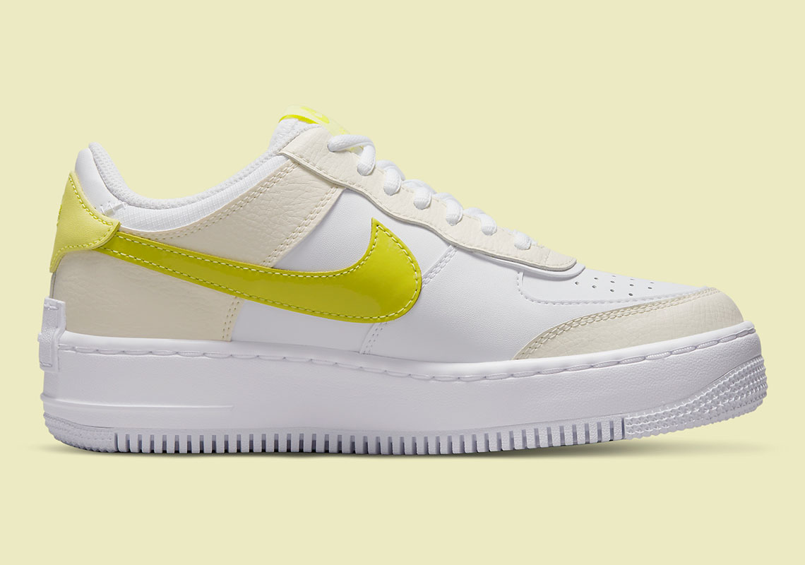 Nike Air Force 1 Shadow Yellow DJ5197-100   SneakerNews.com