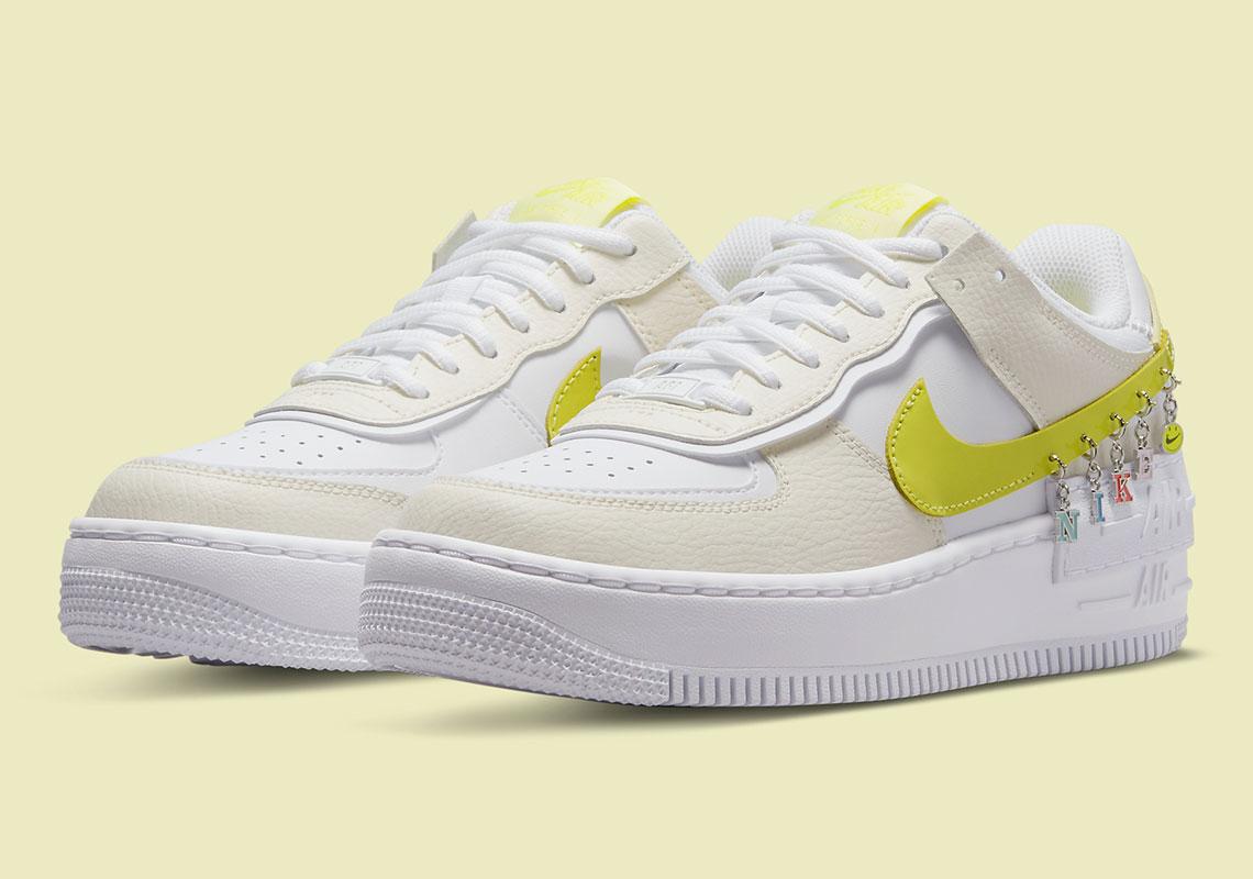 Nike Air Force 1 Shadow Yellow DJ5197-100 | SneakerNews.com