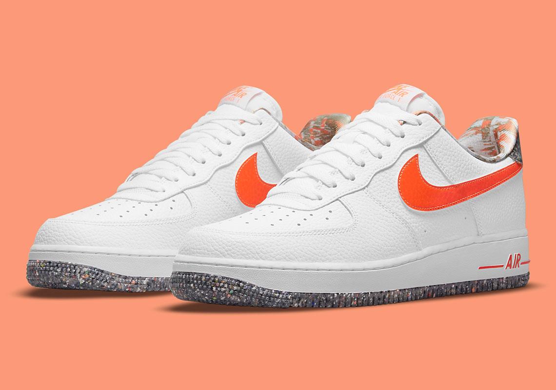 Nike Air Force 1 White Orange DM9098-100 | SneakerNews.com