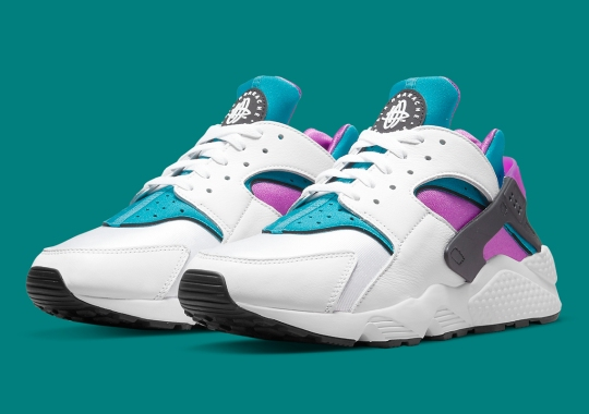 """Official Images Of The Nike Air Huarache """"Deep Magenta"""""""