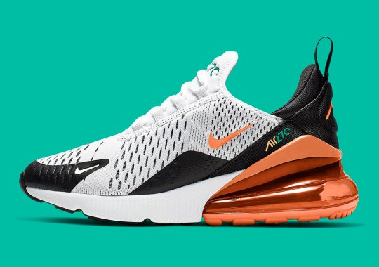 Turf Orange And Stadium Green Liven Up This GS Nike Air Max 270