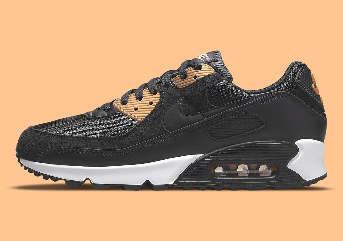 Nike Air Max 90 Black/Gold DM7557-001   SneakerNews.com