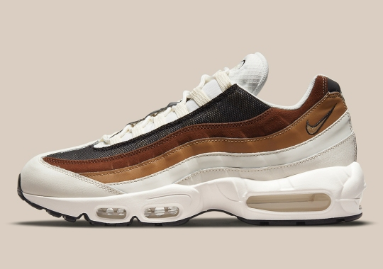 "The Nike Air Max 95 ""Dark Driftwood"" Combines Woodsy Colors"