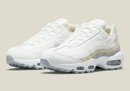 A Women's-Exclusive Nike Air Max 95 Is Ditching Mesh For A Luxe Full-Leather Upper