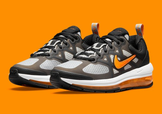 The Black Nike Air Max Genome Gets A Bold Makeover Courtesy Of Orange Accents