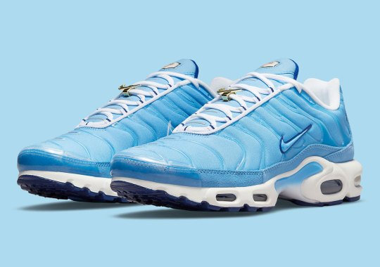 """The Nike Air Max Plus """"First Use"""" Gets A Refreshing University Blue Makeover"""