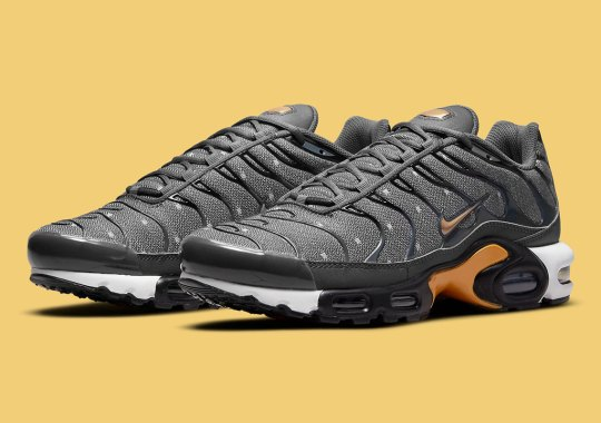 The Twill-Covered Nike Air Max Plus Is Coming Soon In Gold