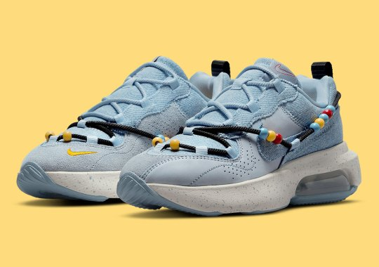 Light Blue Denim Appears On This Beaded Nike Air Max Viva