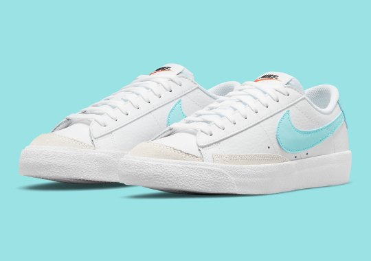 The Kids Nike Blazer Low '77 Gets Touched With Bright Copa Turquoise
