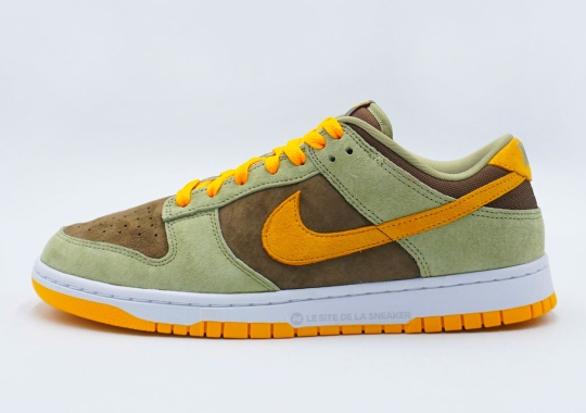 "Nike Expands The ""Ugly Dunkling"" Look With The Dunk Low In Olive And Gold"