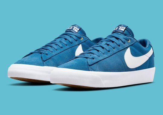 Grant Taylor's Nike SB Blazer Low GT Returns In A Clean Blue And White Arrangement
