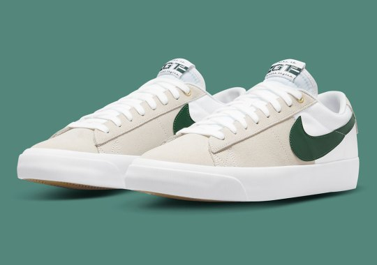 The Nike SB Blazer Low GT Gets A Split-Tone Look And Green Accents