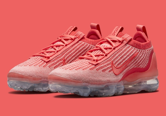 The Nike VaporMax Flyknit 2021 Gets A Full Red Finish