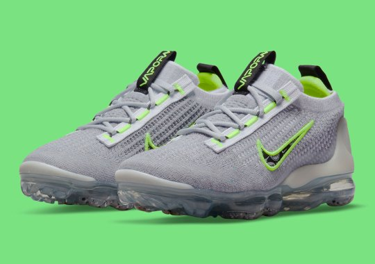 Nike's Vapormax Flyknit 2021 Sees The Full Range Of Logos On The Swoosh
