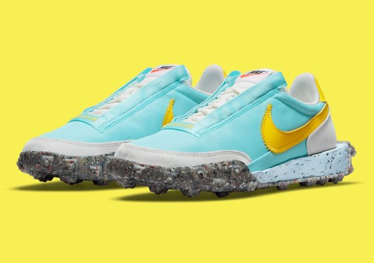 The Nike Waffle Racer Crater Takes A Dive Into The Ocean With Bleached Aqua