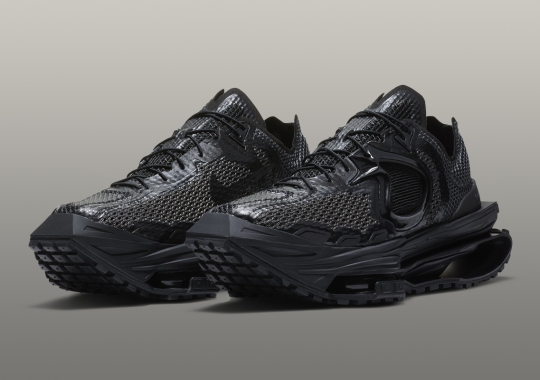 The Matthew M. Williams x Nike Zoom MMW 04 Appears In Triple-Black