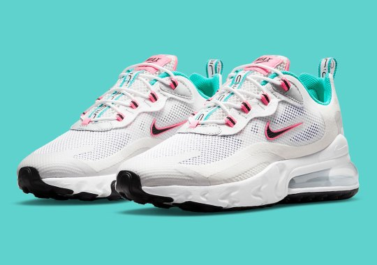 Small Swoosh And Bright Hues Reappear On An Upcoming Nike Air Max 270 React