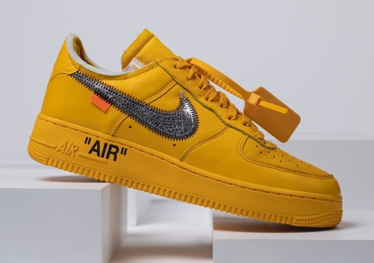 """Off-White x Nike Air Force 1 """"University Gold"""" Potentially Releasing In July"""