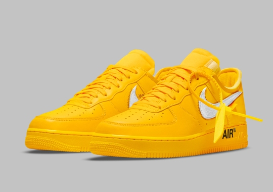 """Official Images Of The Off-White x Nike Air Force 1 """"University Gold"""""""