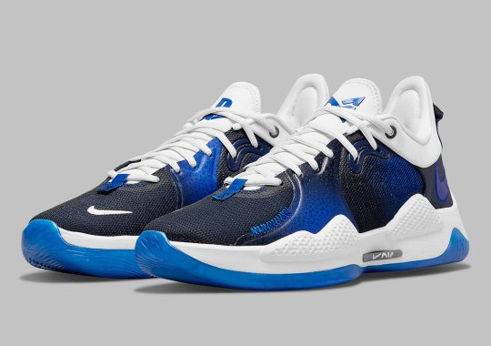 The PlayStation 5 x Nike PG 5 Flips In Blue