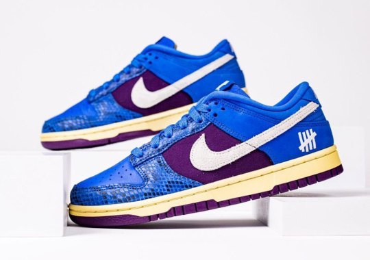 Undefeated x Nike Dunk Low Revealed In Blue Snakeskin And Purple