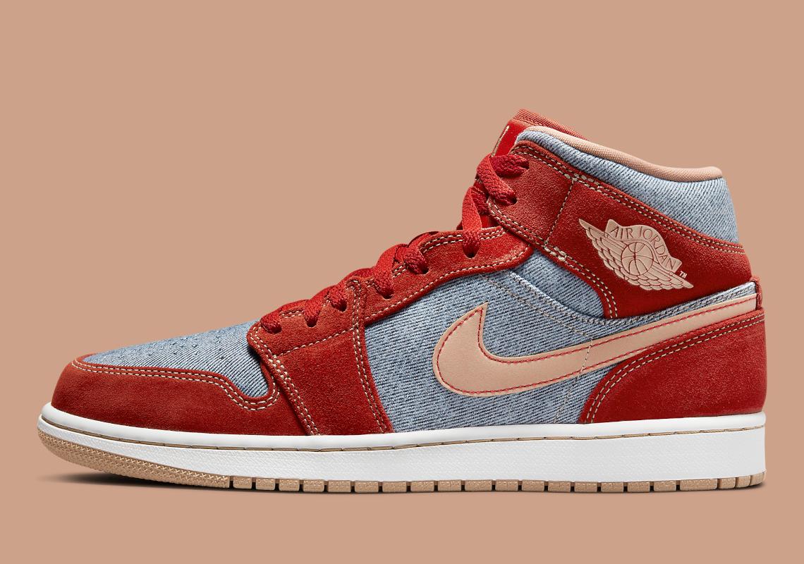Air Jordan 1 Mid Denim Red DM4352-600 | SneakerNews.com