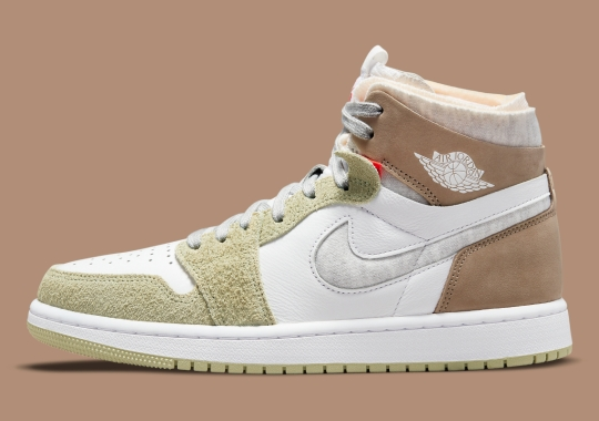 """The Air Jordan 1 Zoom CMFT Gets Ready For Fall With """"Olive Aura"""""""