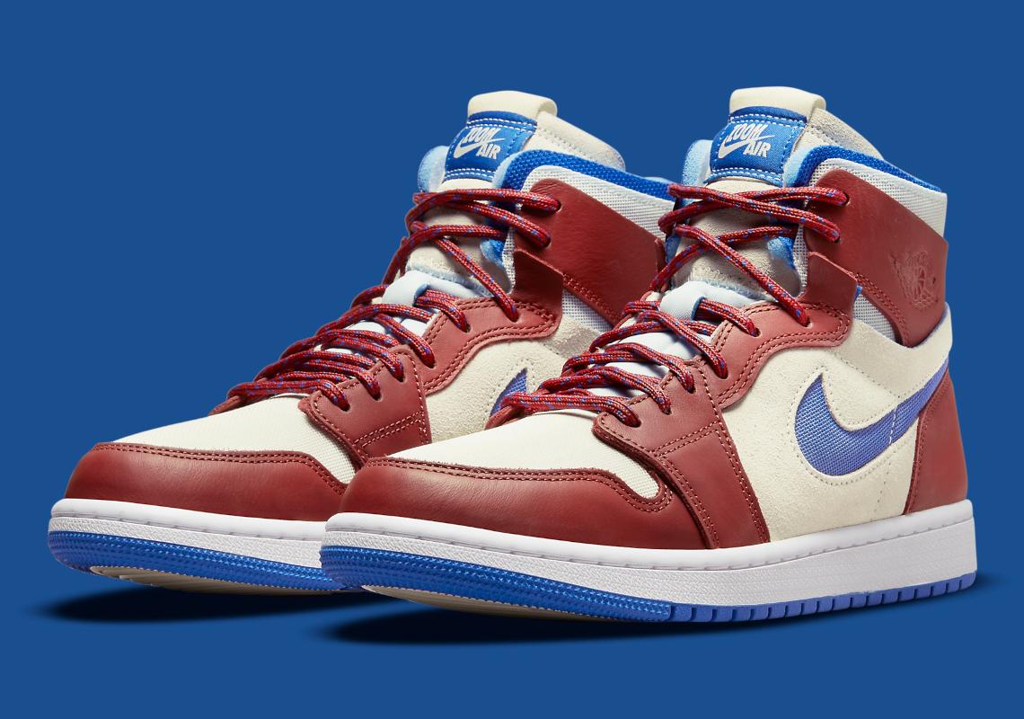 Air Jordan 1 Zoom CMFT Red Blue Sail CT0979-104 | SneakerNews.com