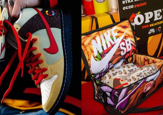"""Nike SB Made A Custom Delivery Bag For The """"Kebab And Destroy"""" Dunks"""