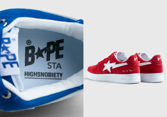 """Highsnobiety Commemorates Their """"Not in Paris"""" Exhibition With Three Suede BAPE STAs"""