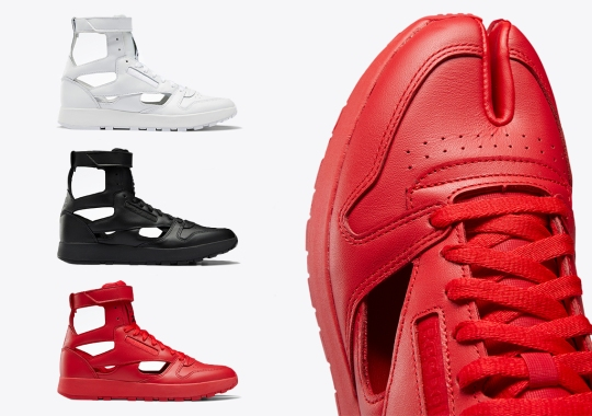Maison Margiela And Reebok Employ Decortiqué For Their Classic Leather Tabi High