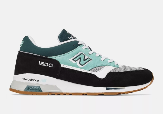 Two Tones Of Green Appear On This New Balance 1500 Made In UK