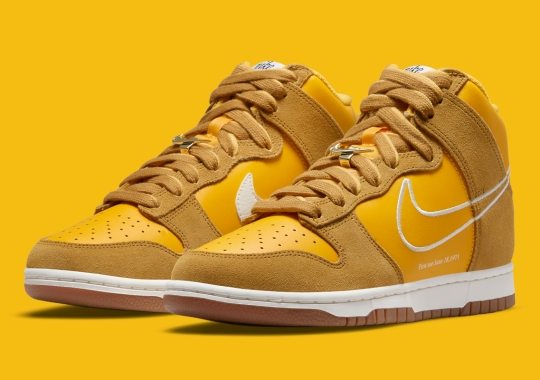 """""""University Gold"""" Is Next Up In The Nike Dunk High """"First Use"""" Collection"""