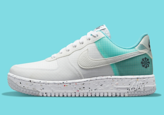 """The Nike Air Force 1 Low """"Move To Zero"""" Appears With Aqua Panels"""