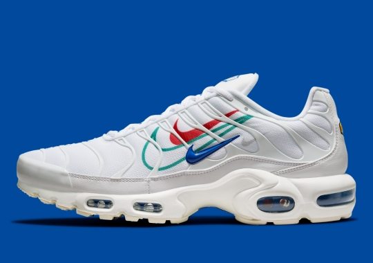 Multiple Colorful Swooshes Appear On The Nike Air Max Plus