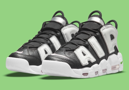 Silver Lettering Appears On The Nike Air More Uptempo