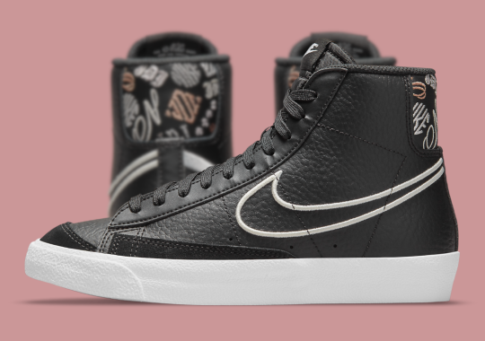Various Fonts Appear On This Nike Blazer Mid '77