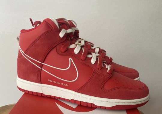 """Nike Dunk High SE """"First Use"""" Appears In University Red"""