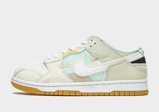 """The Nike Dunk Low Scrap Appears In A Clean """"Sea Glass"""" Colorway"""