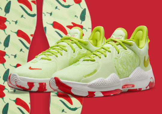 """Official Images Of The Pickled Pepper-Inspired Nike PG 5 """"Pao Jiao"""""""