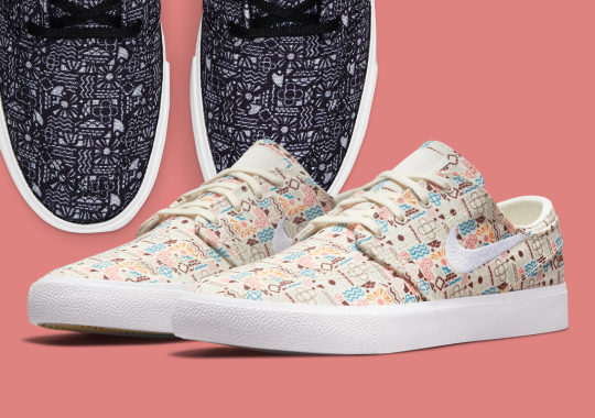 Two Nike SB Zoom Stefan Janoski Canvas Pairs Appear With Summertime Patterns